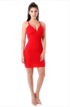 Zennia Bodycon Red Mini Dress