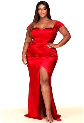 Scarlet Off shoulder Maxi Evening Dress