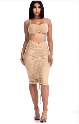 jillyana Tube Top and Midi Skirt Set