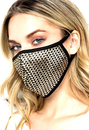 Mel Gold Chain Gorgeous Protective Mask