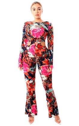Tessa Print Detail Jumpsuit
