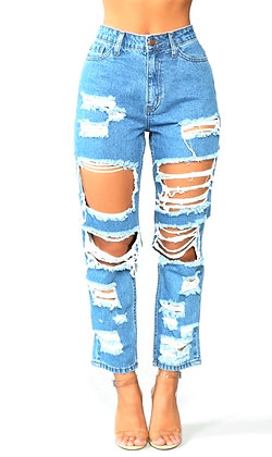 Risia High Rise Skinny Capri Jeans