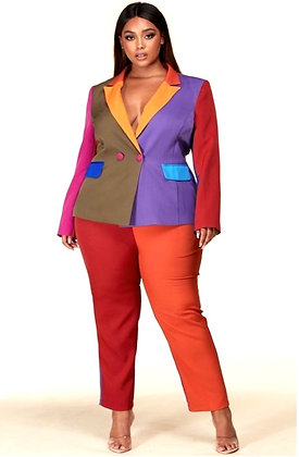 Autumn Calls Color block Suit