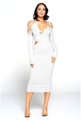 Amanda Gray Spandex Midi Dress