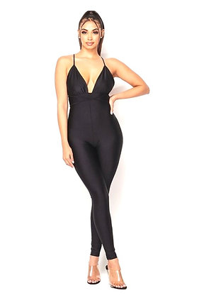 Amarie Fitted Halter Jumpsuit