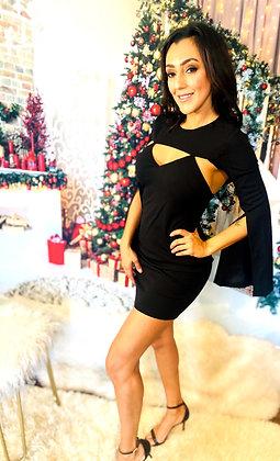 Milia Black Mini Dress