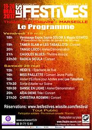 Affiche 2017 Les Festives Eclosion13 Marseille
