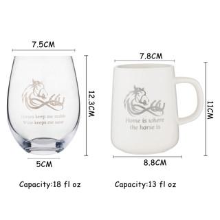 Horse Theme Coffee Mug & Wine Glass