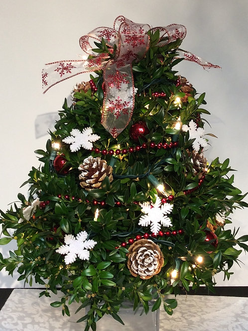 Boxwood Tree (Snowflakes)