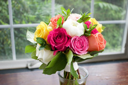 Class Bright Roses and Peonies
