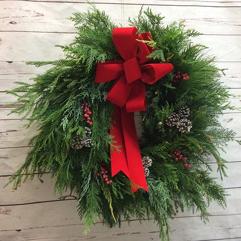 Fresh Mixed Evergreen Wreath