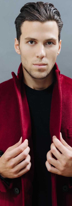 Crimson Cashmere Overcoat