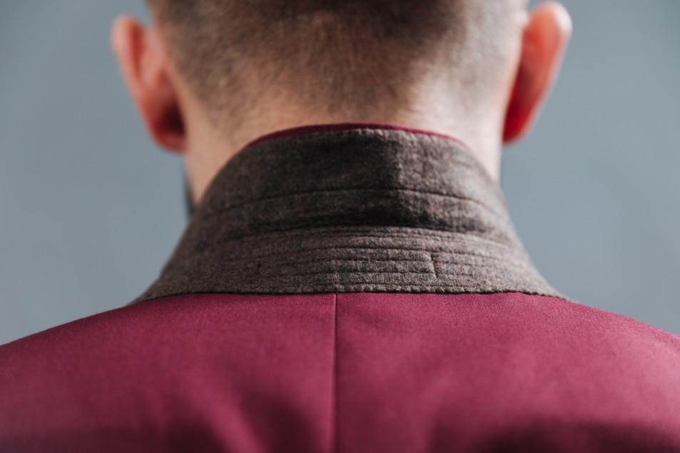 Reinforcement Stitching Beneath Lapel