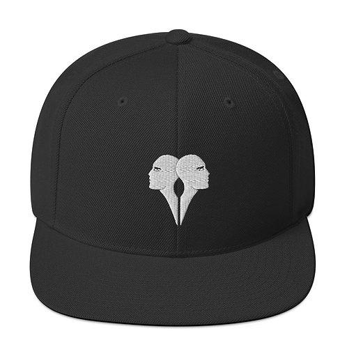 Siamese Snapback Hat Black