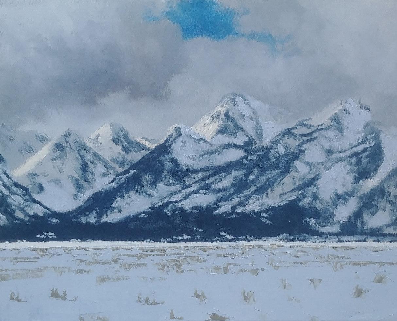 Snow on the Tetons
