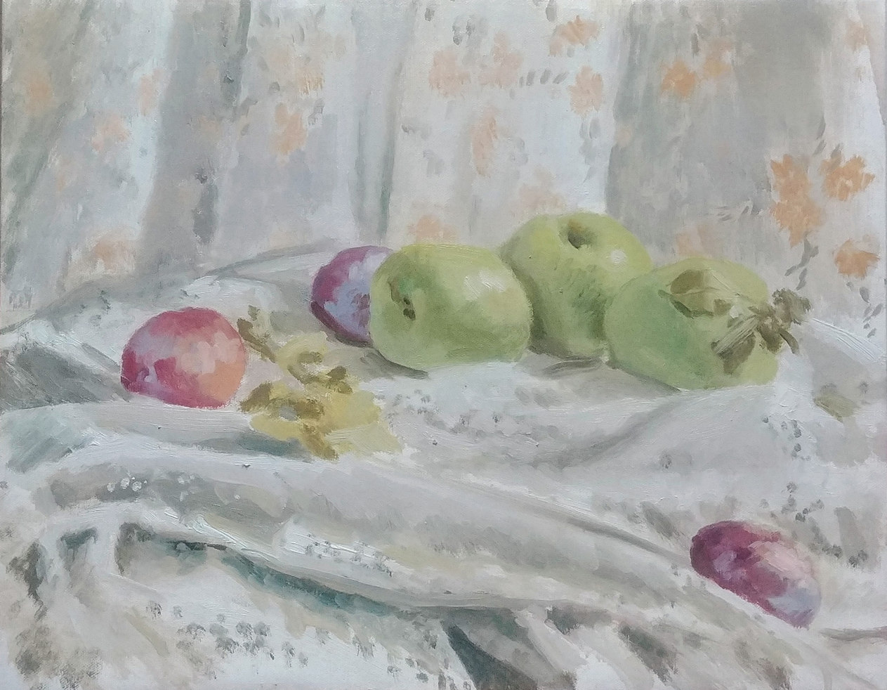 Apples, Plums, and lace