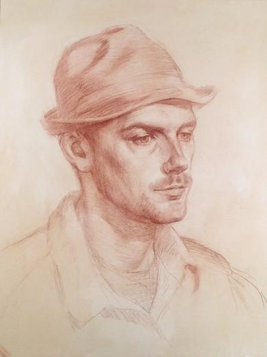 Oscar in a hat