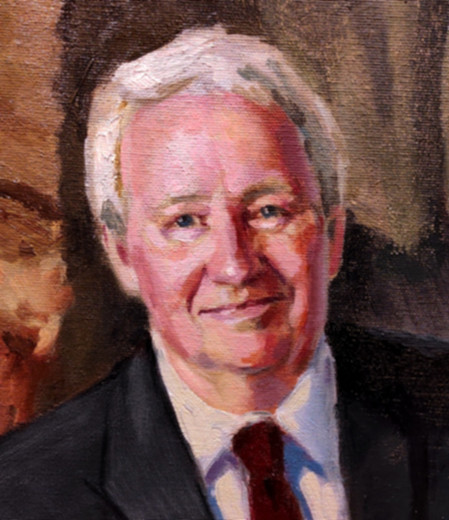 Detail of portrait of Vern Swanson