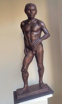 Standing Man, bonded bronze