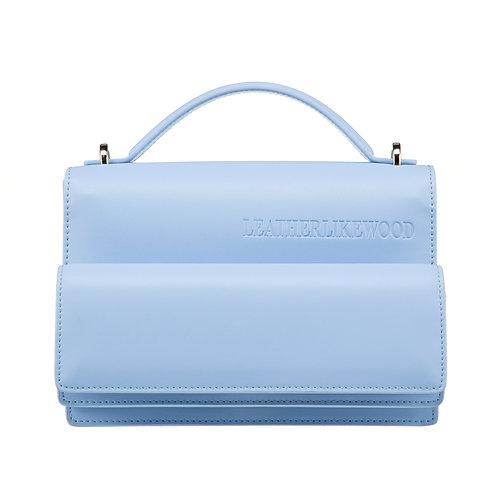 Accordion bag / color blue lavender