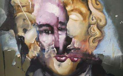 Florian Eymann, tête statue 110719, 35x4