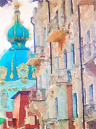 Andrew's descent, Kyiv, Ukraine