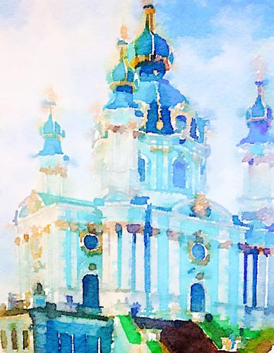 St Andrew's church, Kyiv, Ukraine