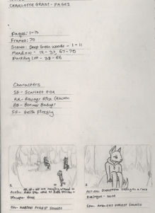 Ranger Rick's Adventures - Completed Storyboard