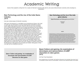 Academic writing uploaded!