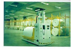 Laser Guided Roll Handling Fork AGV