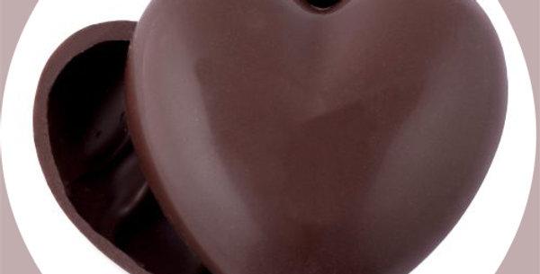 Heart shaped milk chocolate box