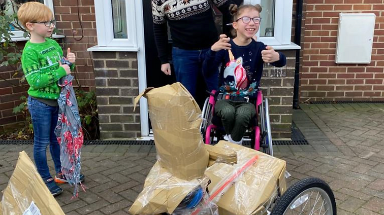 A new bike for Lizzie