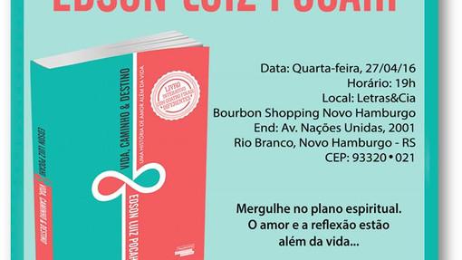 Banner do lançamento do livro Vida, Caminho & Destino