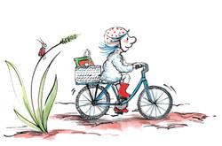 Belinda et son vélo