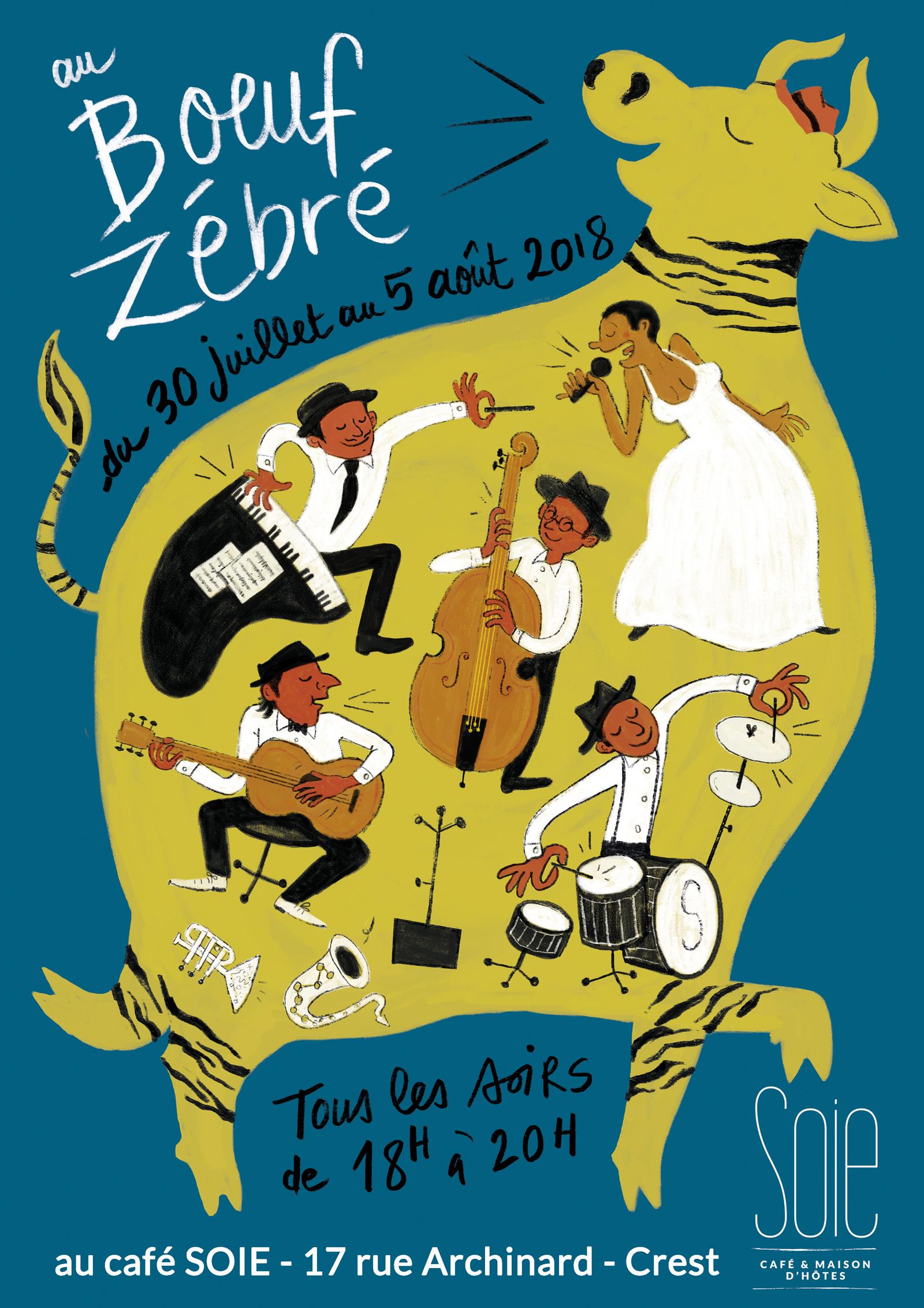 Affiche Boeuf Zébré