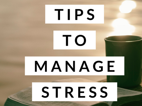 5 Top Tips to Manage Stress