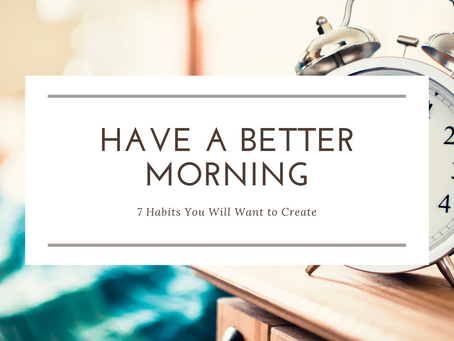 Habits to Start Your Morning Right