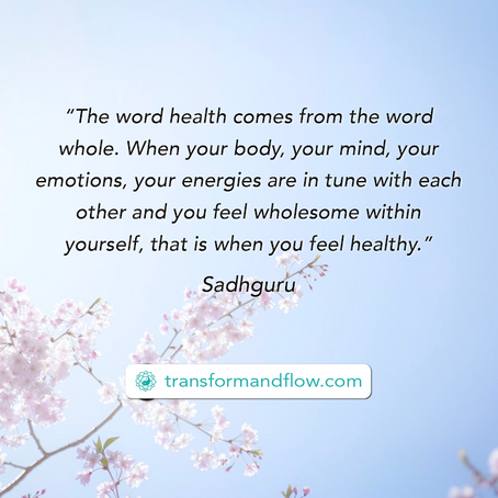 Are you feeling wholesome within yourself?