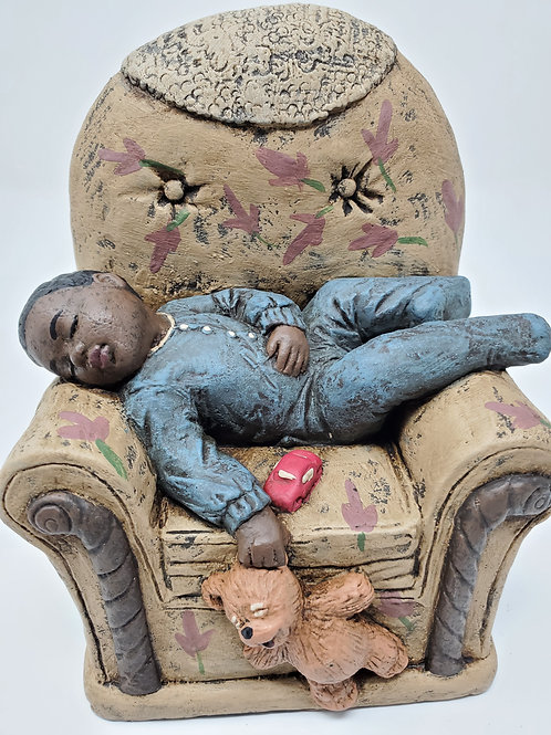 Sleeping Boy in Chair
