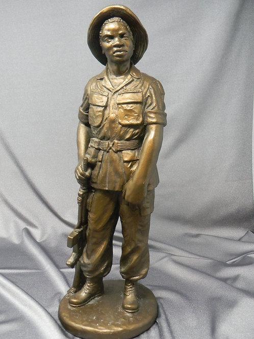 Bronze Toned Vietnam Soldier