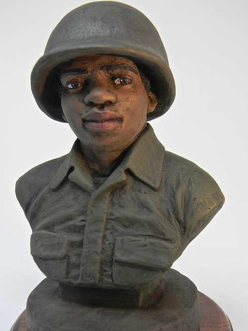 Signed WWII Soldier Bust