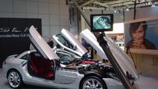 Polecam shooting Mercedes SLR at Motor Show