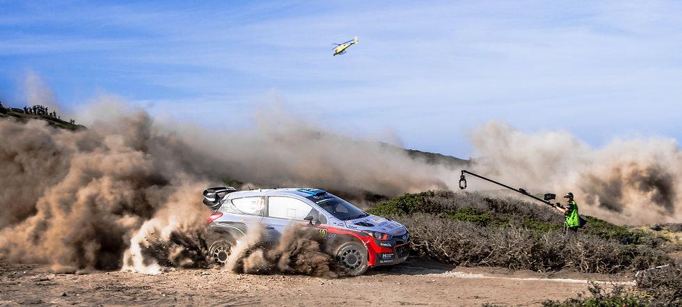Mark Sallaway polecam operator on WRC