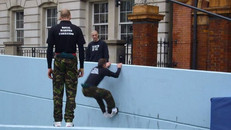 Royal Marines parkour in London