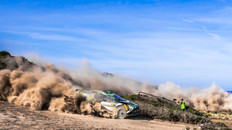 Mark Sallaway Polecam operator for WRC