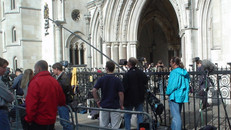 Polecam at the High Court for BBC Panorama