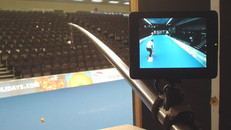 Using the polecam on World Indoor Bowles
