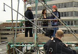 Blue Peter abseiling off Television centre