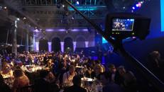 Mark Sallaway operating polecam at the British Film Awards