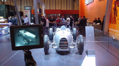 Audi Motor show with polecam